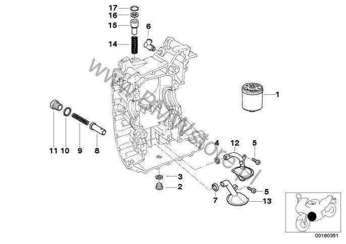 dop u0142yw oleju-filtr oleju bmw r21  r 1150 gs  r 1150 gs 00  0415 0495  ece